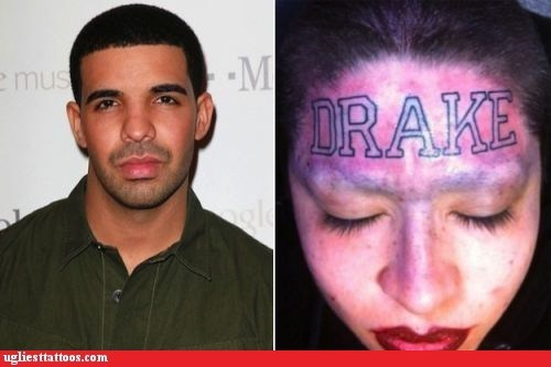 Drake,forehead tattoo,Music