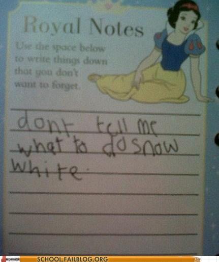 disney disney princesses dont-tell-me-what-to-do not my mom snow white - 6279557632