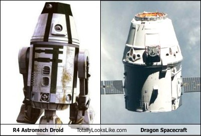 dragon spacecraft droid funny R4 star wars TLL