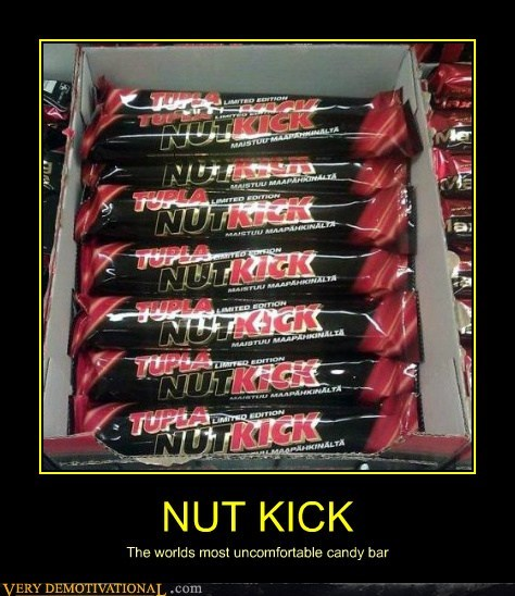 NUT KICK The worlds most uncomfortable candy bar