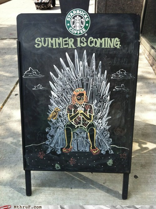 game of scones Game of Thrones Hall of Fame iron throne menu scones sean bean sean bean frappucino Starbucks starbucks menu vanilla bean breve - 6279886592