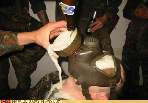alcohol beer drown drunk gas mask - 6279895808