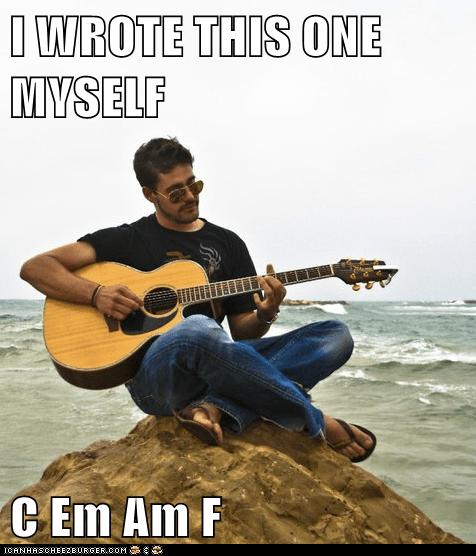 am c em f guitar jerk Memes original - 6279945728