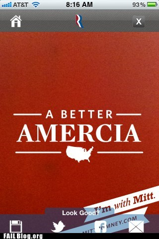 a better amercia america fail nation g rated iphone Mitt Romney - 6279990016