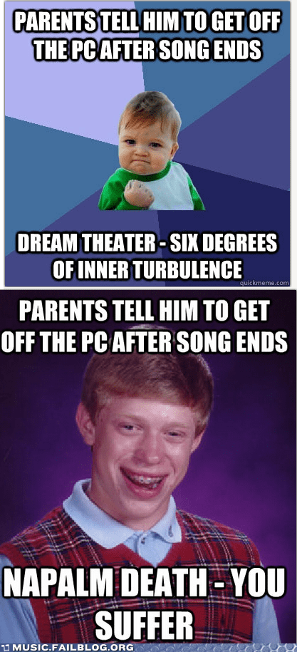 bad luck brian,computer,meme,metal,PC,success kid