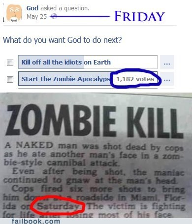 failbook,Featured Fail,god,survey,zombie