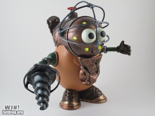 big daddy,bioshock,mr potato head,nerdgasm,toy,video games