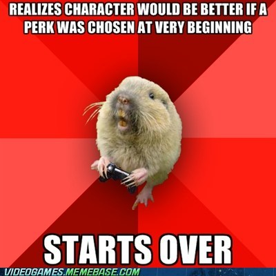 gaming gopher,meme,perks,starting over