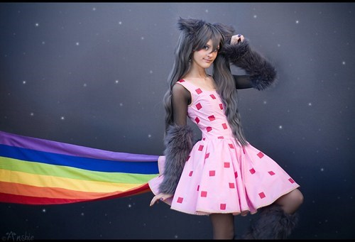 cosplay,cute,humanized,nyancat