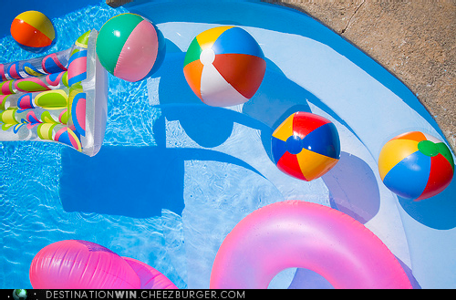 backyard,inflatable,pool,staycation