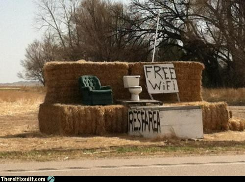 bathroom,free wifi,rest area,rest stop,restroom,road trip