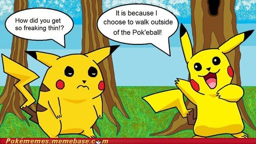 fat,lost weight,pikachu,pokeball,the internets,thin