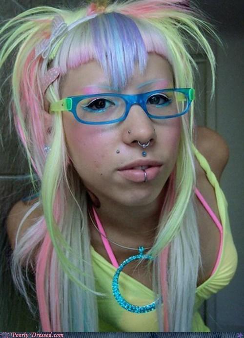 color vomit emo pretty colors rave scene - 6280387840