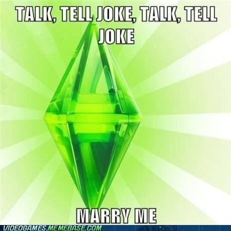 marry me,meme,The Sims,woohoo