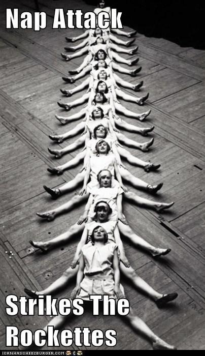 dancers,legs,nap,rockettes