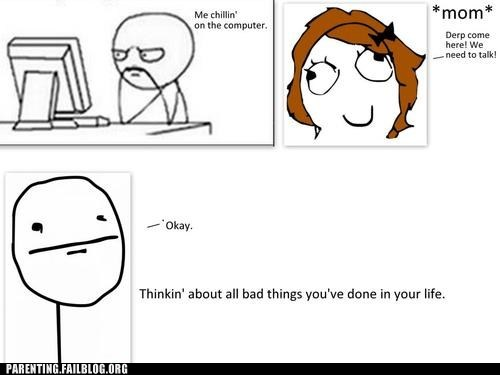 computer mom Rage Comics we need to talk