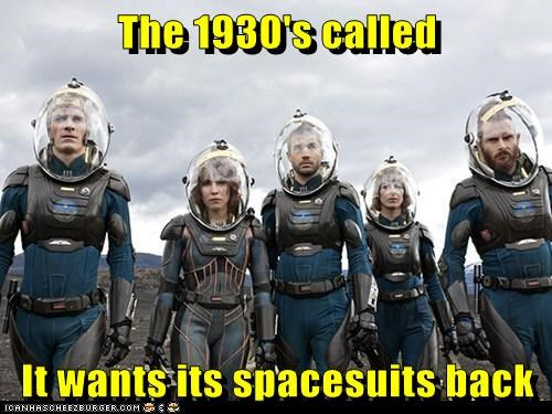 1930s Aliens called Elizabeth Shaw michael fassbender Noomi Rapace old fashioned prometheus spacesuits - 6281133824