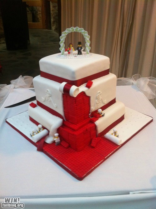 cake design g rated lego nerdgasm wedding win - 6281230336