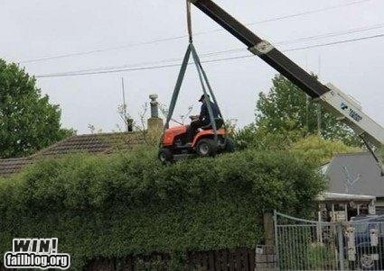 crane,lawn,mowing,repair,there I fixed it