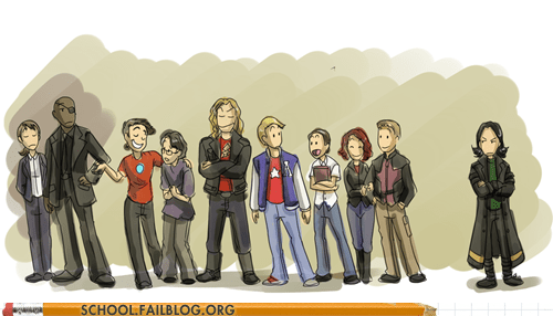 as kids cartoons deviant art high school The Avengers - 6281847552