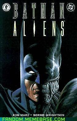 Aliens batman crossover Fan Art - 6281920000