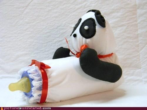 baby,bottle,panda,wtf