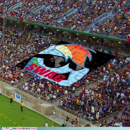 rainbow dash,soccer,stadium,swag,the internets