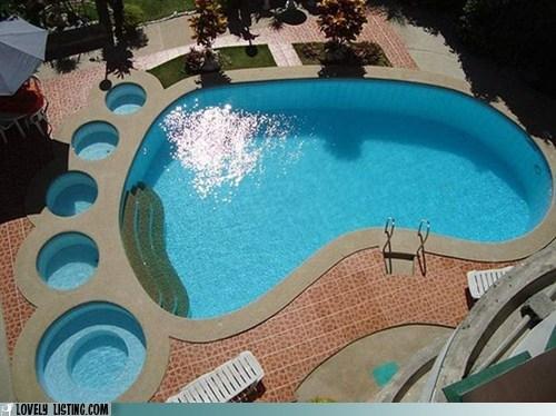 bigfoot footprint pool toes - 6282650112