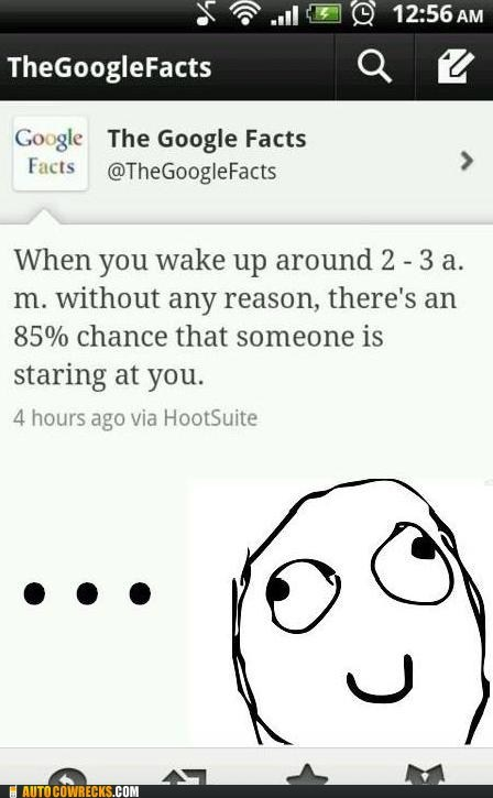 AutocoWrecks creepy g rated google google facts staring at you