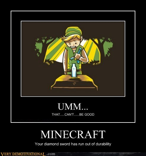 diamond,durability,hilarious,legend of zelda,minecraft,sword