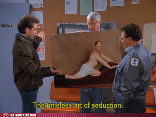 george costanza,seduction,seinfeld,timeless