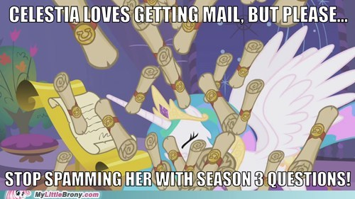 mail princess celestia questions season 3 spam the internets - 6283215360
