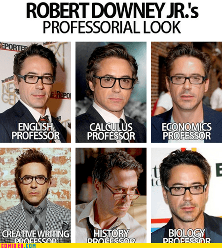 best of week,fashion,glasses,professional,professor,robert downey jr,the internets