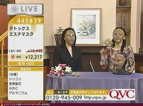 home shopping live mask qvc TV wtf