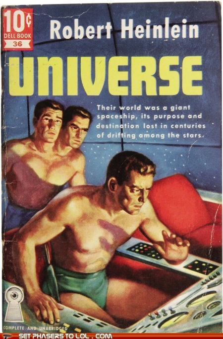 book covers,books,cover art,robert heinlein,two heads,underwear,universe,wtf