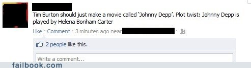 failbook g rated helena bonham-carter Johnny Depp movies tim burton