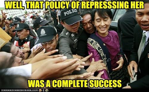 aung san suu kyi Burma political pictures - 6283324160