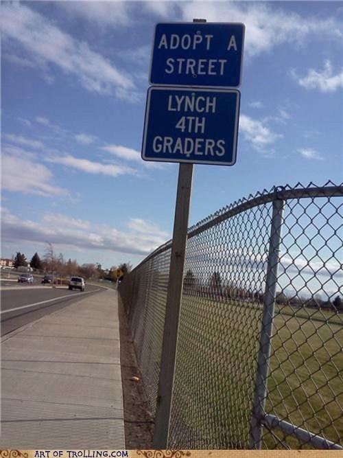 adopt a street IRL lynch sign wtf - 6283339008