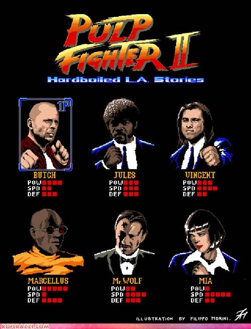 art bruce willis funny game harvey keitel illustration john travolta Movie pulp fiction Samuel L Jackson uma thurman ving rhames - 6283440640