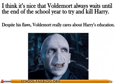 education g rated Hall of Fame Harry Potter polite voldemort School of FAIL voldemort waiting