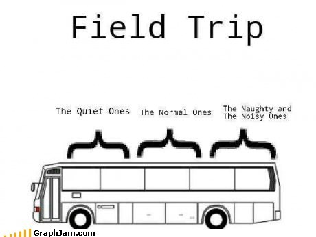 bus,field trip,noisy,school