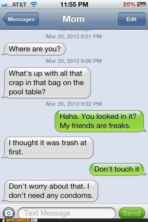 awkward moments,condoms,iphone,thanks mom