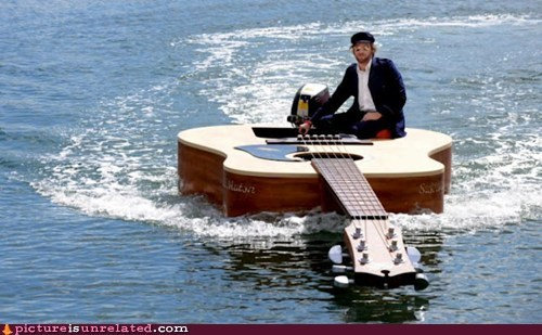 boat,guitar,water,wtf