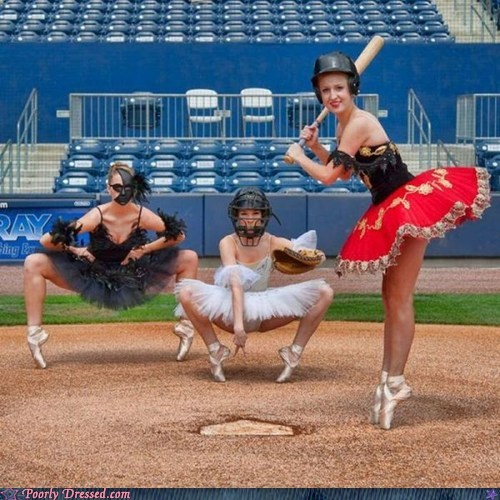 ballerina,baseball,fashion,sports,tutu
