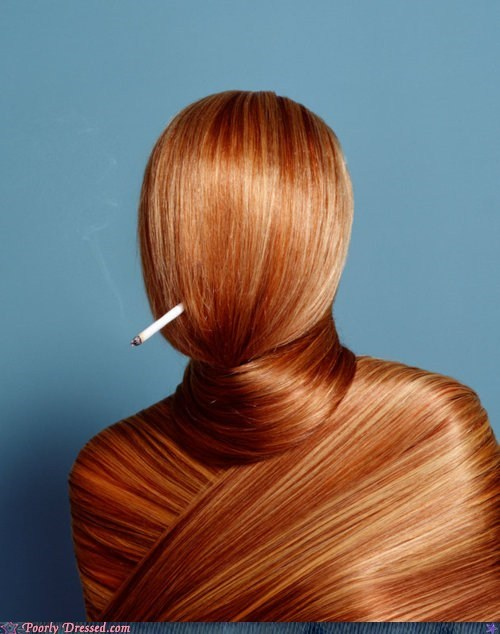 cigarettes fashion hair smoking - 6283677696