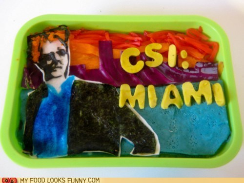 bento,csi miami,david caruso,Deal With It,lunch