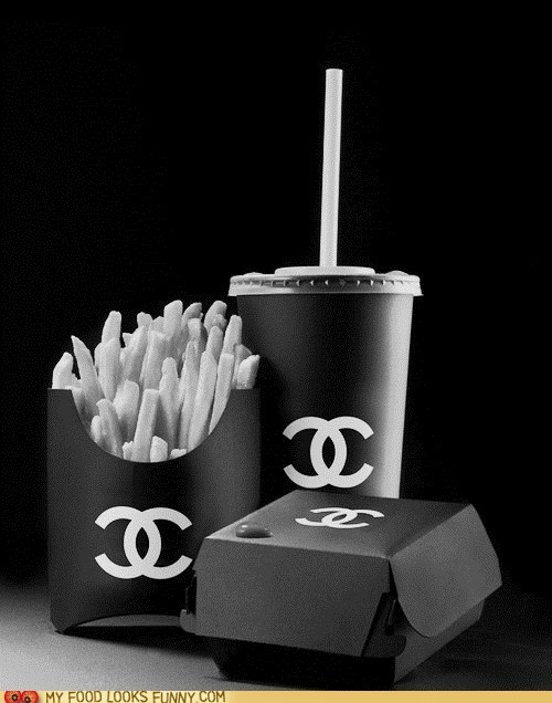 chanel,fast food,label,unhealthy