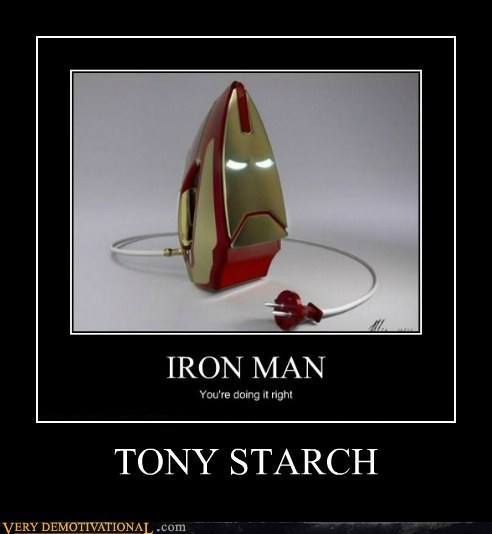 hilarious,ironman,pun,starch,tony stark