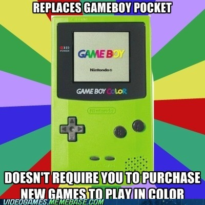 game boy color game boy pocket handhelds meme nintendo