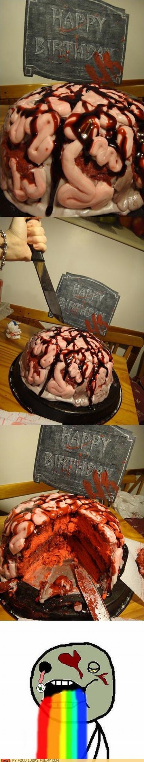 birthday brain cake fondant zombie - 6283962624